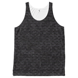 BRICK1 BLACK MARBLE & BLACK WATERCOLOR All-Over-Print TANK TOP