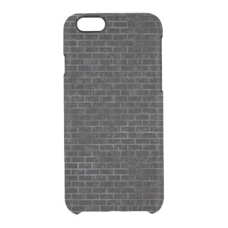 BRICK1 BLACK MARBLE & BLACK WATERCOLOR CLEAR iPhone 6/6S CASE