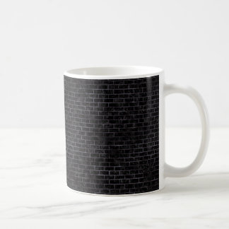 BRICK1 BLACK MARBLE & BLACK WATERCOLOR COFFEE MUG