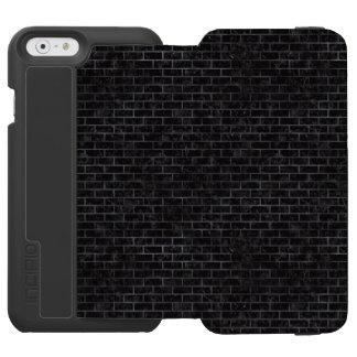 BRICK1 BLACK MARBLE & BLACK WATERCOLOR INCIPIO WATSON™ iPhone 6 WALLET CASE