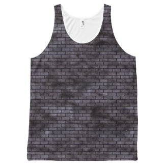 BRICK1 BLACK MARBLE & BLACK WATERCOLOR (R) All-Over-Print TANK TOP