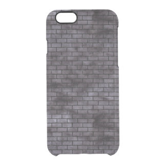 BRICK1 BLACK MARBLE & BLACK WATERCOLOR (R) CLEAR iPhone 6/6S CASE