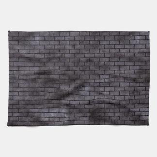 BRICK1 BLACK MARBLE & BLACK WATERCOLOR (R) KITCHEN TOWELS