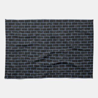 BRICK1 BLACK MARBLE & BLUE DENIM KITCHEN TOWEL