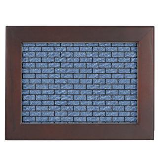 BRICK1 BLACK MARBLE & BLUE DENIM (R) KEEPSAKE BOX