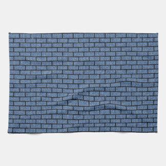BRICK1 BLACK MARBLE & BLUE DENIM (R) KITCHEN TOWEL