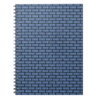 BRICK1 BLACK MARBLE & BLUE DENIM (R) NOTEBOOKS