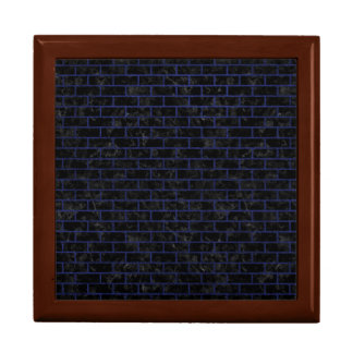BRICK1 BLACK MARBLE & BLUE LEATHER GIFT BOX