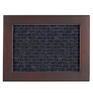 BRICK1 BLACK MARBLE & BLUE LEATHER KEEPSAKE BOX