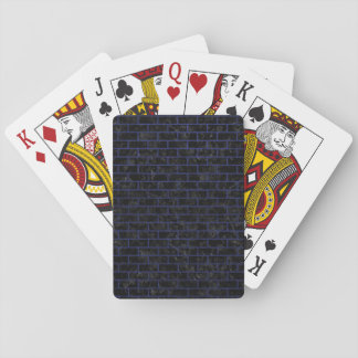 BRICK1 BLACK MARBLE & BLUE LEATHER PLAYING CARDS