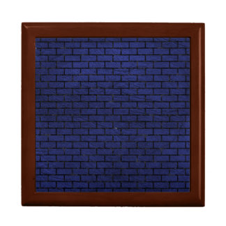 BRICK1 BLACK MARBLE & BLUE LEATHER (R) GIFT BOX