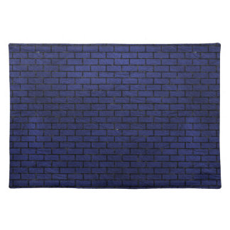 BRICK1 BLACK MARBLE & BLUE LEATHER (R) PLACEMAT