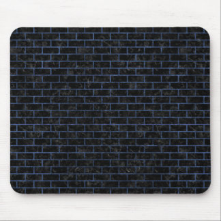 BRICK1 BLACK MARBLE & BLUE STONE MOUSE PAD