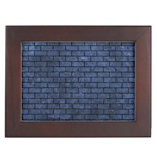 BRICK1 BLACK MARBLE & BLUE STONE (R) KEEPSAKE BOX