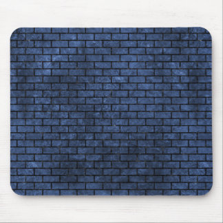BRICK1 BLACK MARBLE & BLUE STONE (R) MOUSE PAD