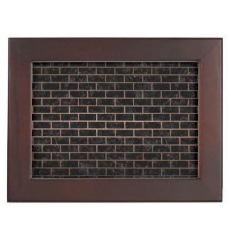 BRICK1 BLACK MARBLE & BRONZE METAL KEEPSAKE BOX