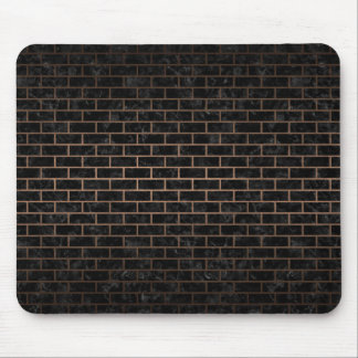 BRICK1 BLACK MARBLE & BRONZE METAL MOUSE PAD