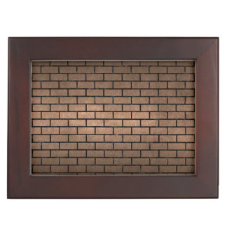 BRICK1 BLACK MARBLE & BRONZE METAL (R) KEEPSAKE BOX