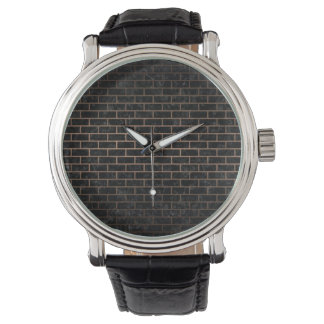 BRICK1 BLACK MARBLE & BRONZE METAL WATCH