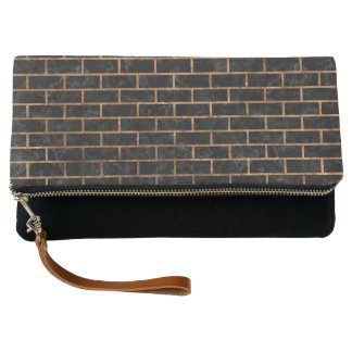 BRICK1 BLACK MARBLE & BROWN STONE CLUTCH
