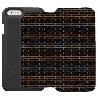 BRICK1 BLACK MARBLE & BROWN STONE INCIPIO WATSON™ iPhone 6 WALLET CASE