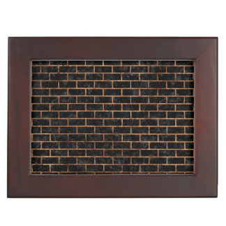 BRICK1 BLACK MARBLE & BROWN STONE KEEPSAKE BOX