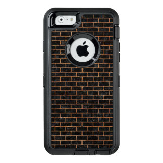 BRICK1 BLACK MARBLE & BROWN STONE OtterBox DEFENDER iPhone CASE