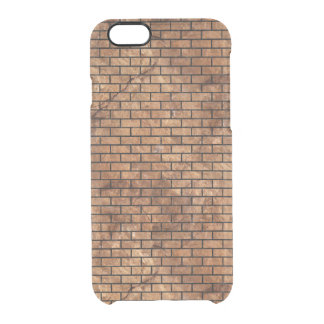 BRICK1 BLACK MARBLE & BROWN STONE (R) CLEAR iPhone 6/6S CASE