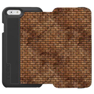 BRICK1 BLACK MARBLE & BROWN STONE (R) INCIPIO WATSON™ iPhone 6 WALLET CASE