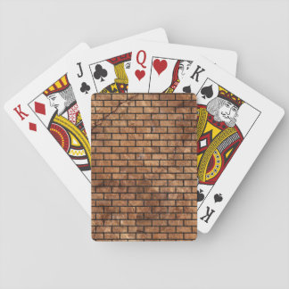 BRICK1 BLACK MARBLE & BROWN STONE (R) PLAYING CARDS
