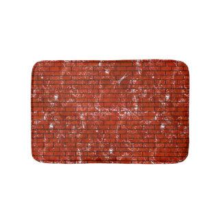 BRICK1 BLACK MARBLE & RED MARBLE (R) BATH MAT