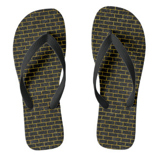 BRICK1 BLACK MARBLE & YELLOW MARBLE FLIP FLOPS