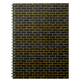 BRICK1 BLACK MARBLE & YELLOW MARBLE NOTEBOOK