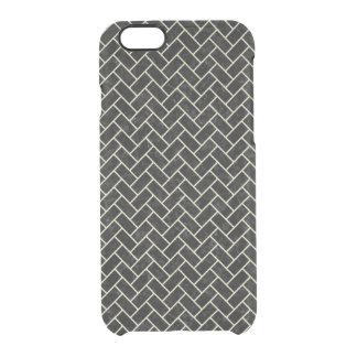 BRICK2 BLACK MARBLE & BEIGE LINEN CLEAR iPhone 6/6S CASE
