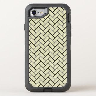 BRICK2 BLACK MARBLE & BEIGE LINEN (R) OtterBox DEFENDER iPhone 8/7 CASE