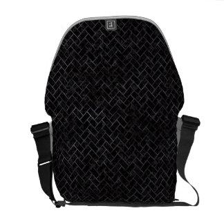 BRICK2 BLACK MARBLE & BLACK WATERCOLOR COURIER BAG
