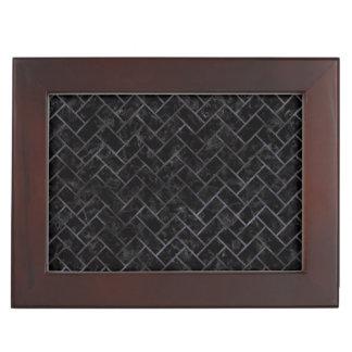 BRICK2 BLACK MARBLE & BLACK WATERCOLOR KEEPSAKE BOX