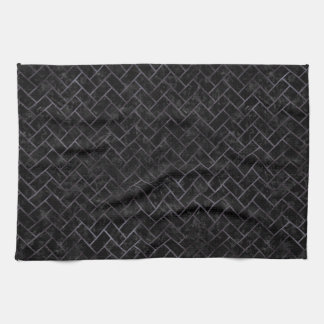 BRICK2 BLACK MARBLE & BLACK WATERCOLOR KITCHEN TOWEL