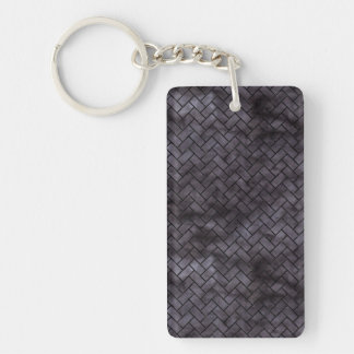 BRICK2 BLACK MARBLE & BLACK WATERCOLOR (R) KEYCHAIN