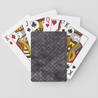 BRICK2 BLACK MARBLE & BLACK WATERCOLOR (R) PLAYING CARDS