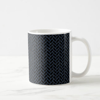 BRICK2 BLACK MARBLE & BLUE DENIM COFFEE MUG