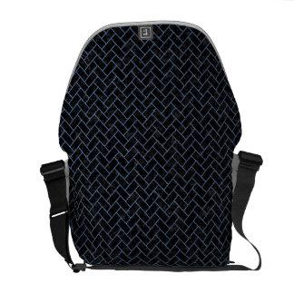 BRICK2 BLACK MARBLE & BLUE DENIM COURIER BAGS