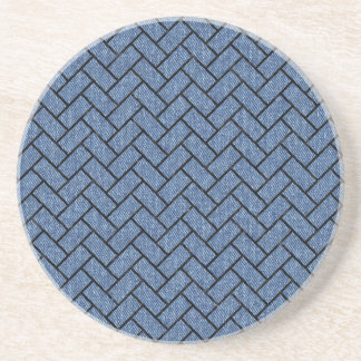 BRICK2 BLACK MARBLE & BLUE DENIM (R) COASTER
