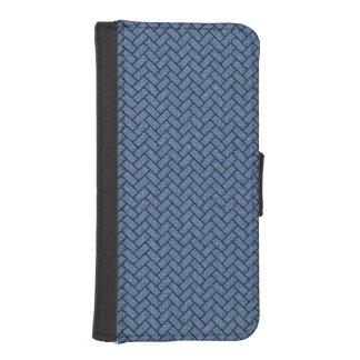 BRICK2 BLACK MARBLE & BLUE DENIM (R) iPhone SE/5/5s WALLET CASE