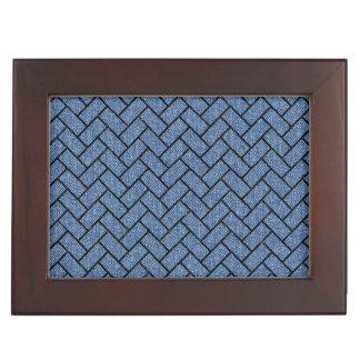BRICK2 BLACK MARBLE & BLUE DENIM (R) KEEPSAKE BOX