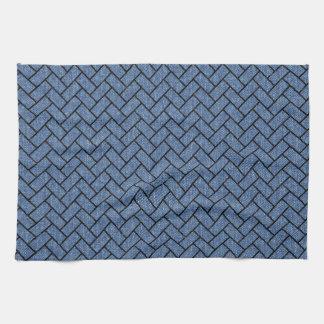 BRICK2 BLACK MARBLE & BLUE DENIM (R) KITCHEN TOWEL