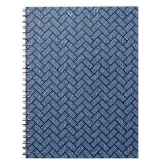 BRICK2 BLACK MARBLE & BLUE DENIM (R) SPIRAL NOTEBOOK