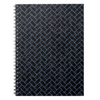 BRICK2 BLACK MARBLE & BLUE DENIM SPIRAL NOTEBOOK