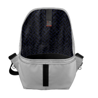 BRICK2 BLACK MARBLE & BLUE LEATHER COURIER BAGS