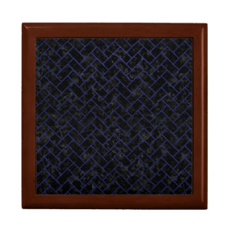 BRICK2 BLACK MARBLE & BLUE LEATHER GIFT BOX